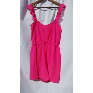 NWOT LOOKBOOK STORE Women's Fuscia Pink Romper